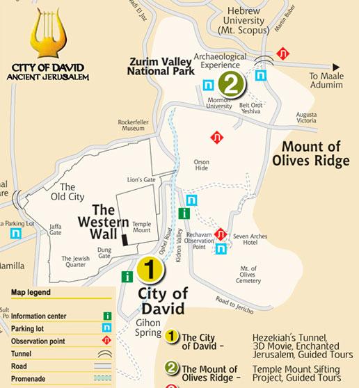 Nördlich des Tempelbergs liegt der Zurim Valley Park, wo das archäologische Abenteuer stattfindet. (© City of David)