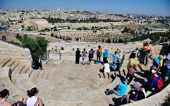 Vom Ölberg hat man einen fantastischen Blick auf Jerusalem, besonders den historischen Teil. (© IsraelMagazin/Matthias Hinrichsen)