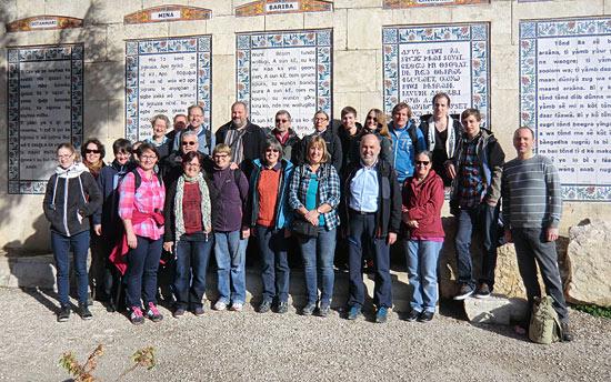 Die Schwaben sind am Ziel in der Pater Noster-Kirche in Jerusalem. (© Martina Schubert/IGTO)