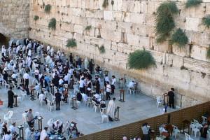 Gläubige suchen auch zum Selichot - den Bußgebeten - in diesen Tagen kurz vor dem jüdischen Neujahr die Klagemauer auf.
