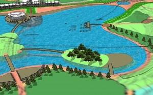 Ein See mit neun Hektar Wasserfläche entsteht derzeit in Be´er Sheva. 2018 soll das Projekt fertiggestellt werden. (© City of Be´er Sheva)