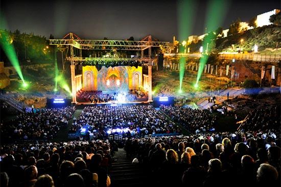 Opernvorführung im Sultans Pool von Jerusalem. (© IMOT)