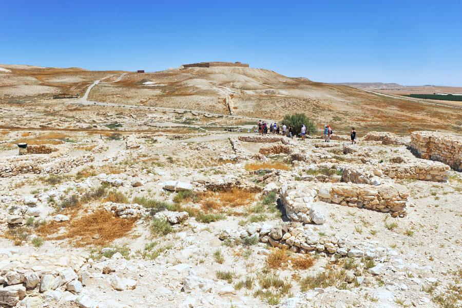 Über 100.000 Quadratmeter erstreckt sich das Tel Arad, eine außergewöhnliche große Fläche für damalige Zeit. (© Matthias Hinrichsen)