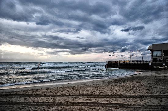 Stürme in Israel sind besonders in den Wintermonaten keine Seltenheit. (© Matthias Hinrichsen)