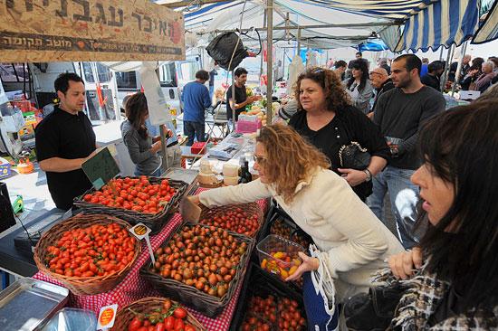 Tel Aviv wurde vom Lifestylemagazin Condé Nast Traveler zum Ort mit dem besten vegetarischen Angebot weltweit gekürt. (© Matthias Hinrichsen)