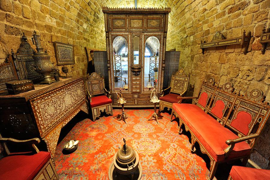 Arabisches Herrschaftszimmer Museum schätze in der mauer