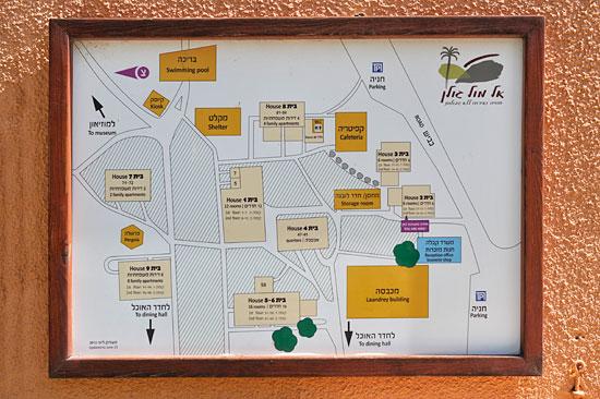 Eine Karte gibt Übersicht für Gäste. (© Matthias Hinrichsen)