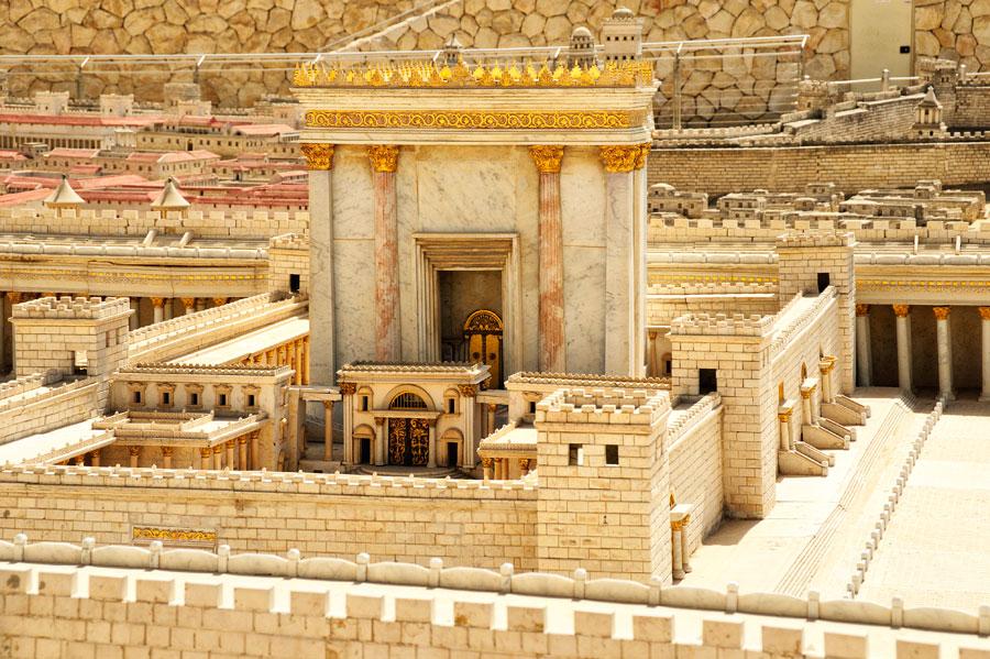 Der Zweite Tempel der Juden (Modell im Israel Museum, Jerusalem - © Matthias Hinrichsen)