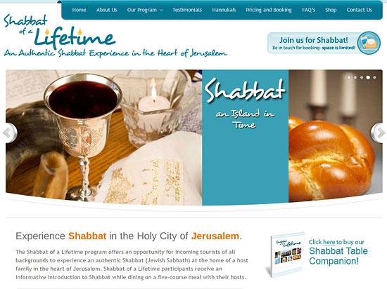 Schabbatfeier in Jerusalem über shabbatofalifetime.com