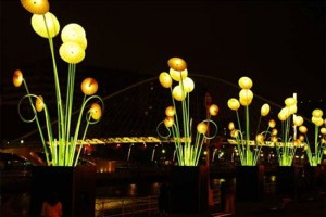 Lichter in Jerusalem, das besonders Kunstereignis. (© Stadt Jerusalem)