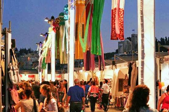 """Kunsthandwerkermarkt """"Hutzot HaYotzer"""" in Jerusalem. (© itravel Jerusalem)"""
