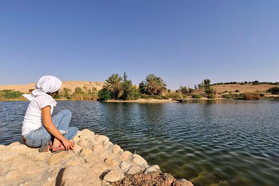 Kibbutz Neot Semadar, Wasserreservoir und See in einem. (© Matthias Hinrichsen)