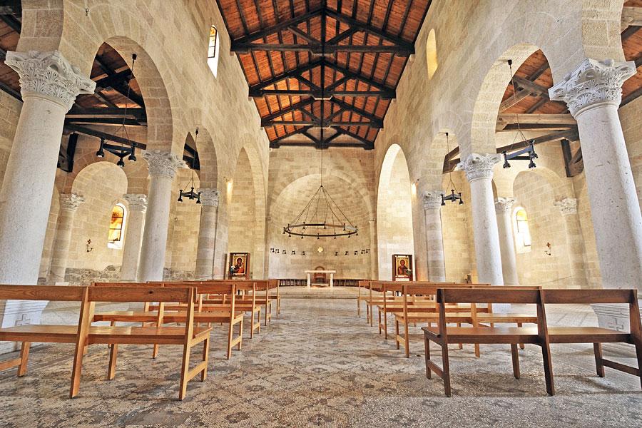 Die Brotvermehrungskirche in Tabgha. (© Matthias Hinrichsen)