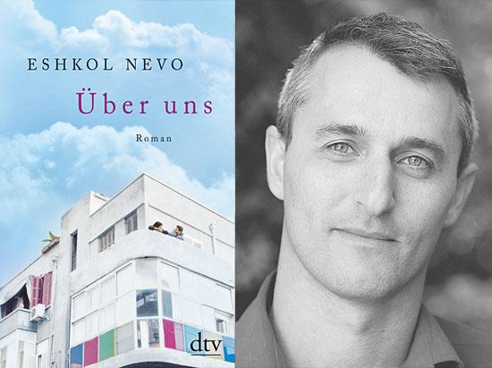 """Über uns"" (Titel links) von Eshkol Nevo (rechts).  (© Moti Kikayon)"