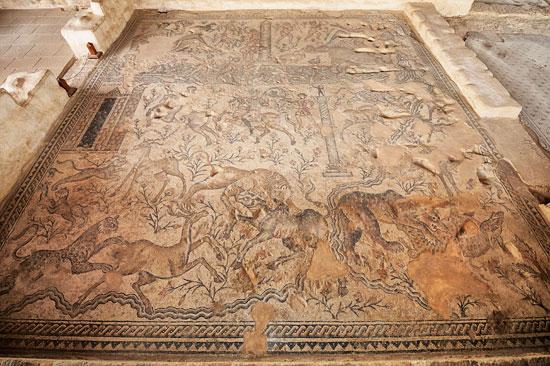 Mosaikboden in Sepphoris (Zippori). (© Matthias Hinrichsen)