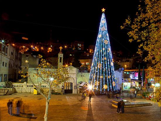 Weihnachtsbaum in Nazareth. (Foto: IMOT)