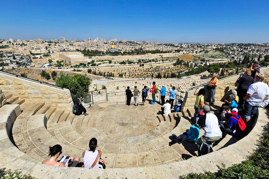 Jerusalem vom Ölberg aus gesehen.