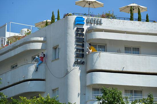 """4000 Gebäude, vorwiegend im Bauhaus-Stil, bilden in Tel Aviv die """"Weiße Stadt"""", ein UNESCO-Weltkulturerbe. (© Matthias Hinrichsen)"""