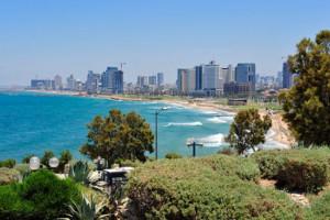 Die Mittelmeerküste vor Jaffa und Tel Aviv. (© Matthias Hinrichsen)