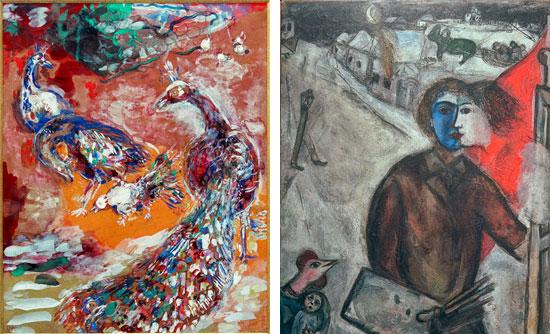 """Großformatige Abbildungen im neu erschienen Buch """"Chagall"""" von Annette Weber."""