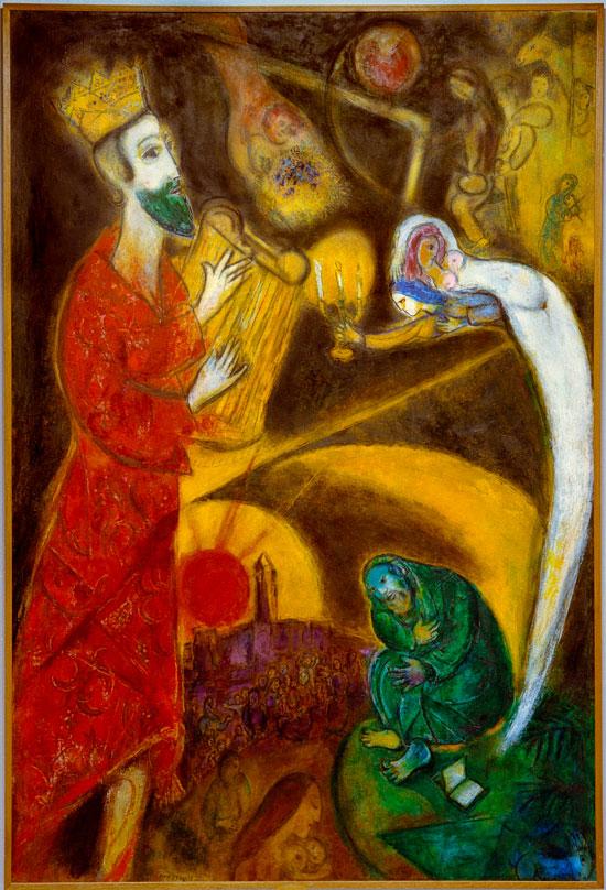 "Chagalls ""König David"" (Abbildung im Buch ""Chagall"")."