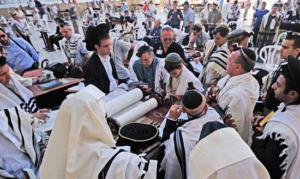 Juden an der Klagemauer in Jerusalem. (© Matthias Hinrichsen)