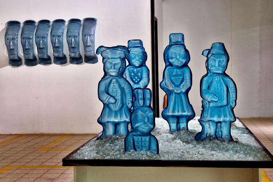Glasskulpturen im Glasmseum Arad. (© Matthias Hinrichsen)
