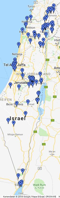 Jerusalem Karte Welt.Ramon Krater