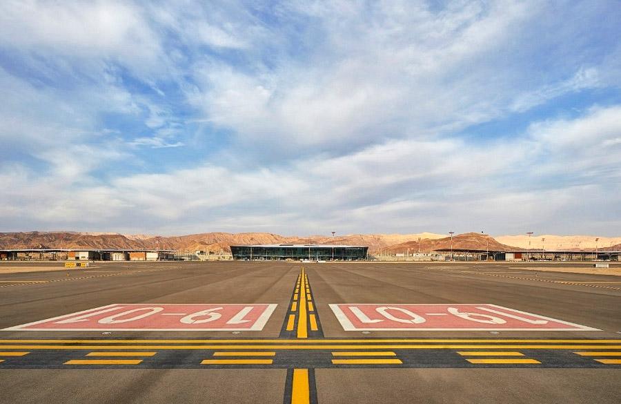 Der neue internationale Flughafen im Süden Israels: Ilan and Asaf Ramon International Airport.