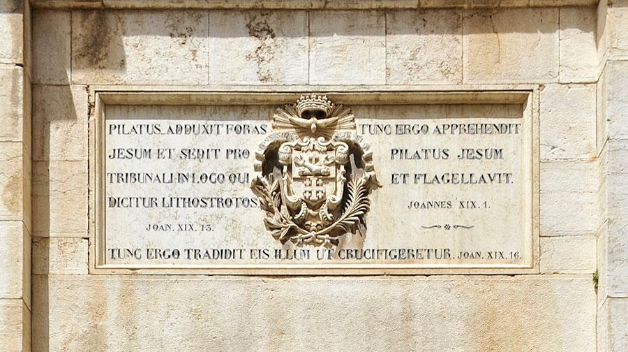 Inschrift Eingang Kloster.