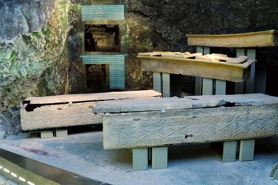Herrschaftliche Särge der Antike in Bet Shearim. (© Matthias Hinrichsen)