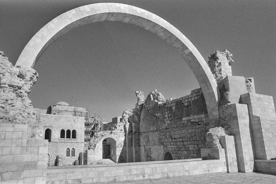 Hurva-Synagoge im teilrestaurierten Zustand im Jahr 1978. (© Moshe Milner/GPO)