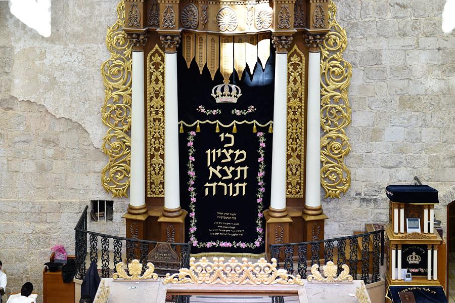 Thora-Schrein in der Hurva-Synagoge. (© Matthias Hinrichsen)