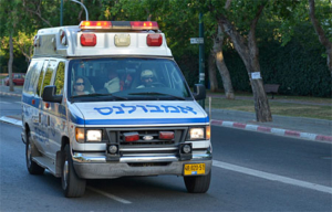 Israelischer Krankenwagen.