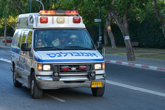 Israelischer Krankenwagen. (Symbolbild © Matthias Hinrichsen)