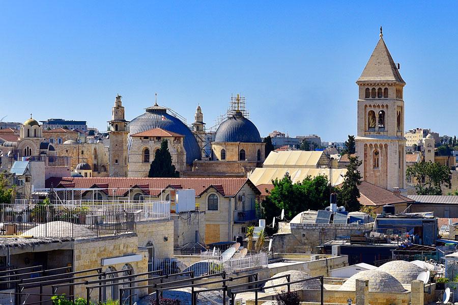 Kirchen in Jerusalem. (© Matthias Hinrichsen)