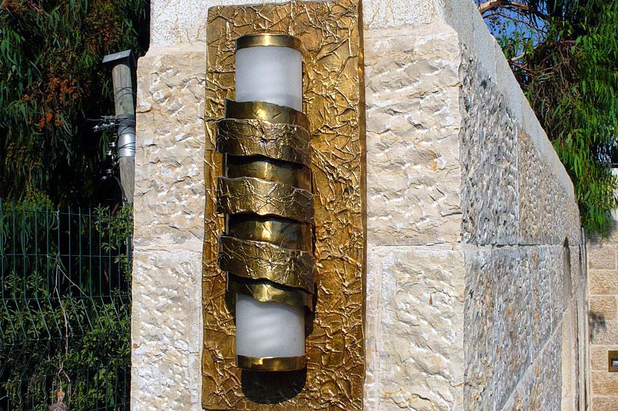 Mesusa am Eingang zur Davidstadt in Jerusalem. (© Matthias Hinrichsen)