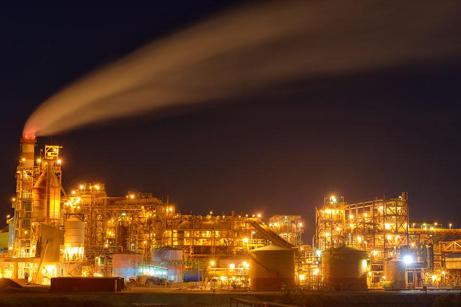 Magnesiumfabrik am Toten Meer. (© Matthias Hinrichsen)