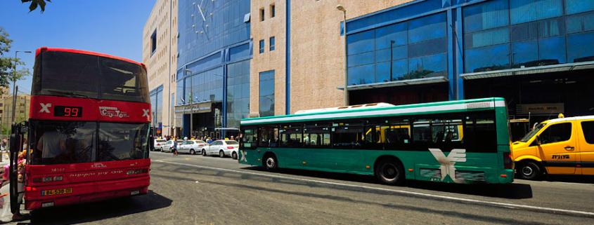 """Zentraler Busbahnhof """"CBS - Central Busstation"""" in Jerusalem. (© Matthias Hinrichsen)"""