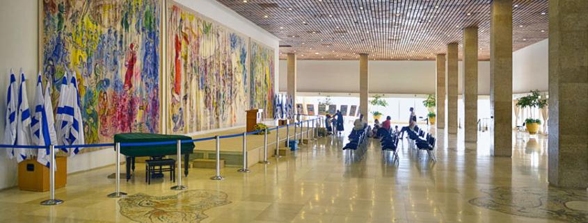 Der Chagall-Saal Knesset Jerusalem.