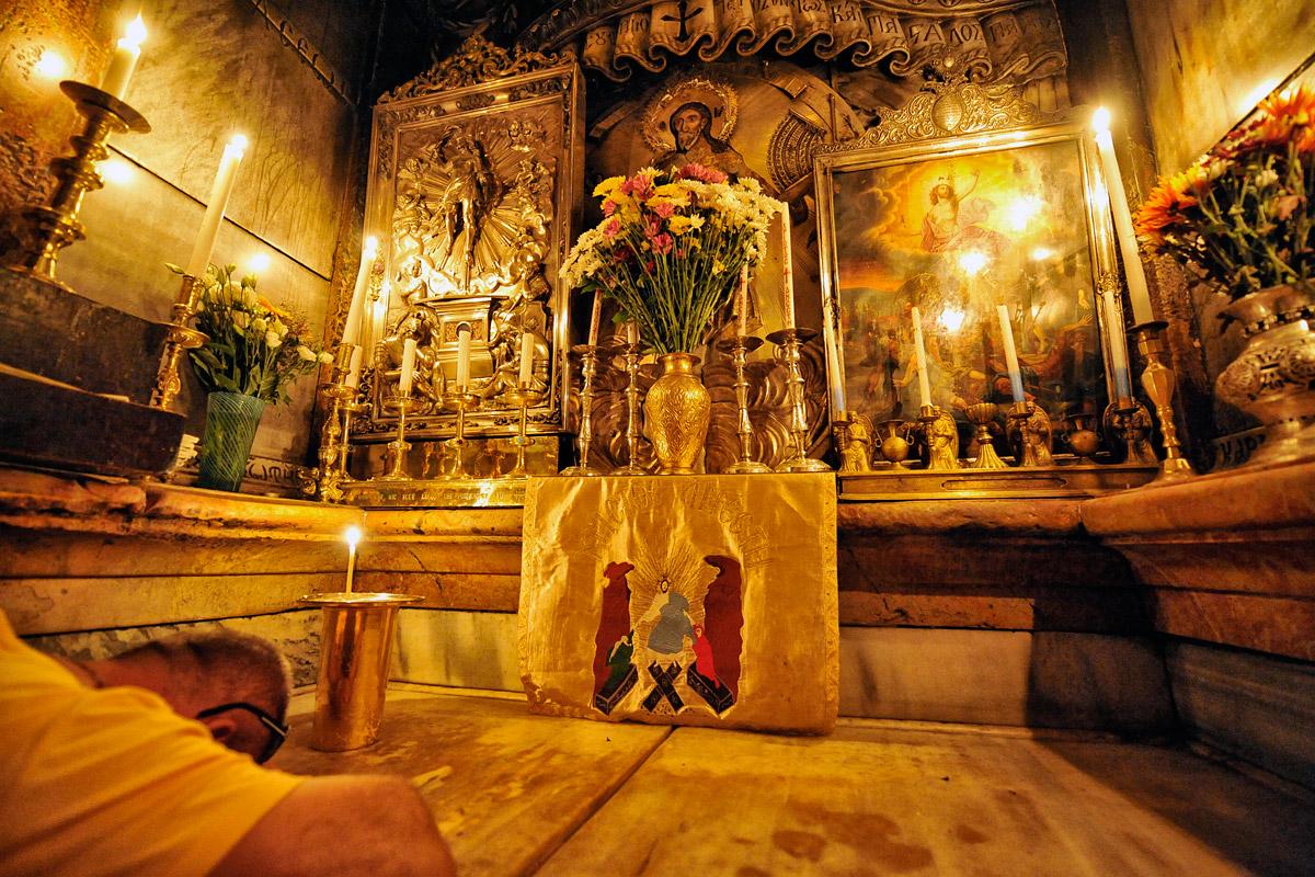 Heiliges Grab in der Grabeskirche in Jerusalem.