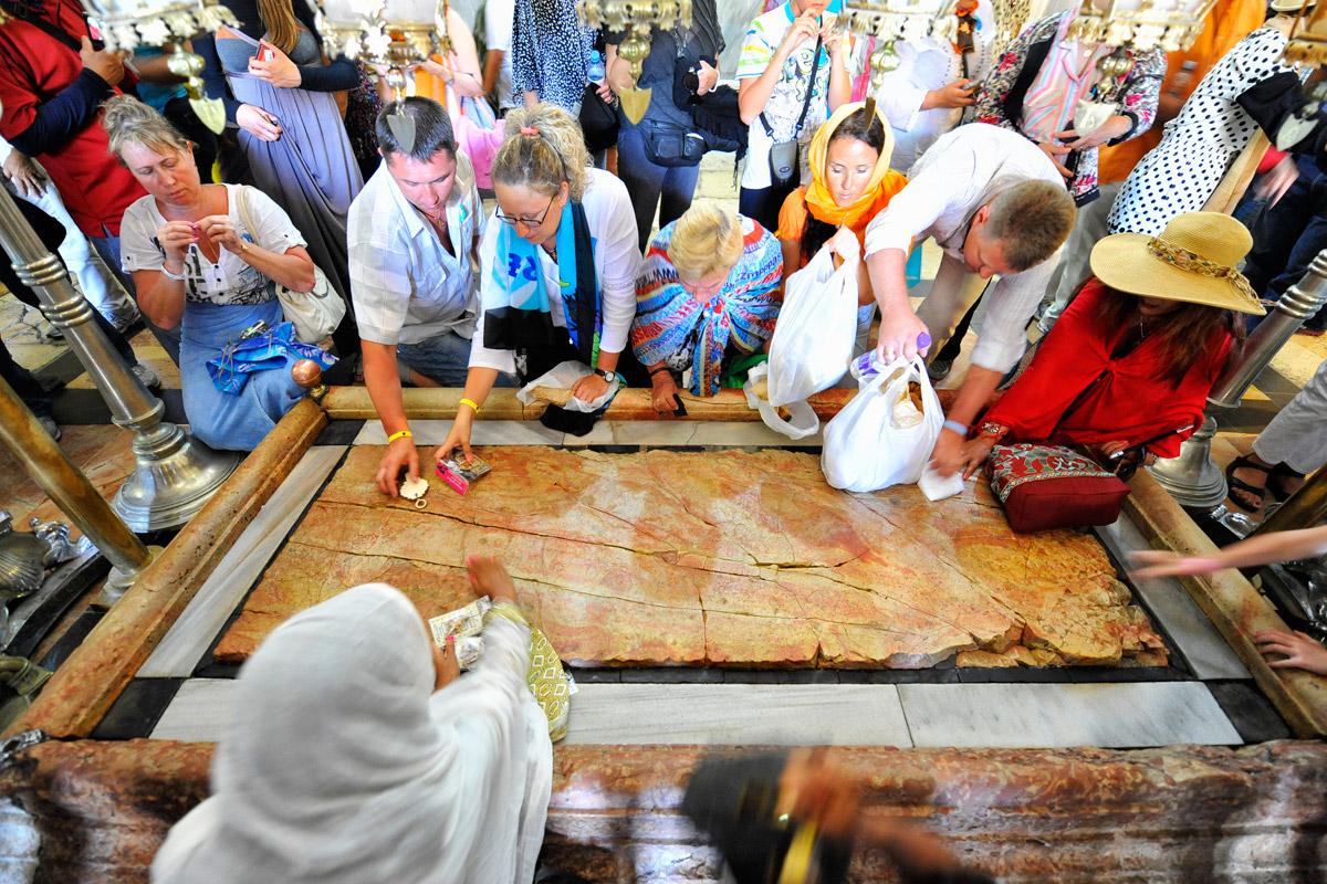 Salbungsstein Grabeskirche Religiöse Rituale