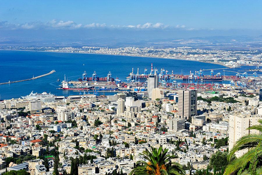 Haifa Zentrum und Hafen