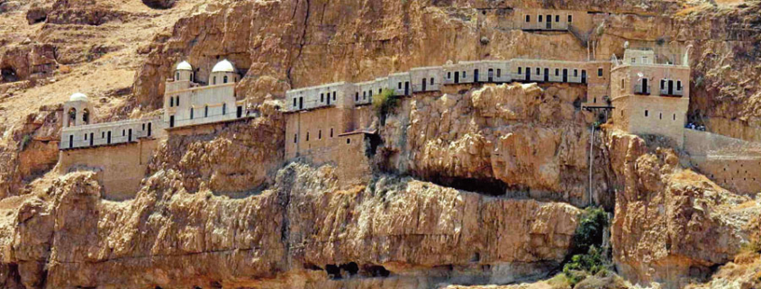 "Kloster Quarantal, auch Kloster der Versuchung bei Jericho. (© FLASHPACKER TRAVELGUIDE/flickr ""Kloster der Versuchung in Jericho | Monastery of Temptation"" CC BY-SA 2.0)"