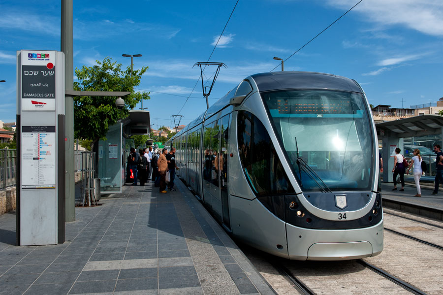 Straßenbahn Israel Jerusalem