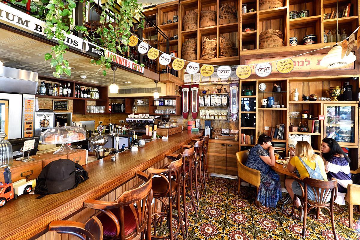 Landwer Café in Tel Aviv.