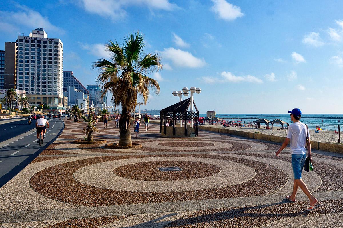 Strandpromenade in Tel Aviv.