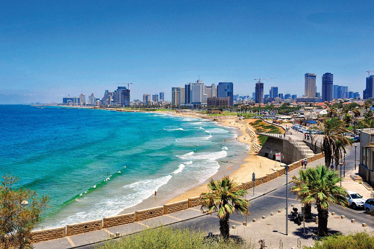 Skyline von Tel Aviv.
