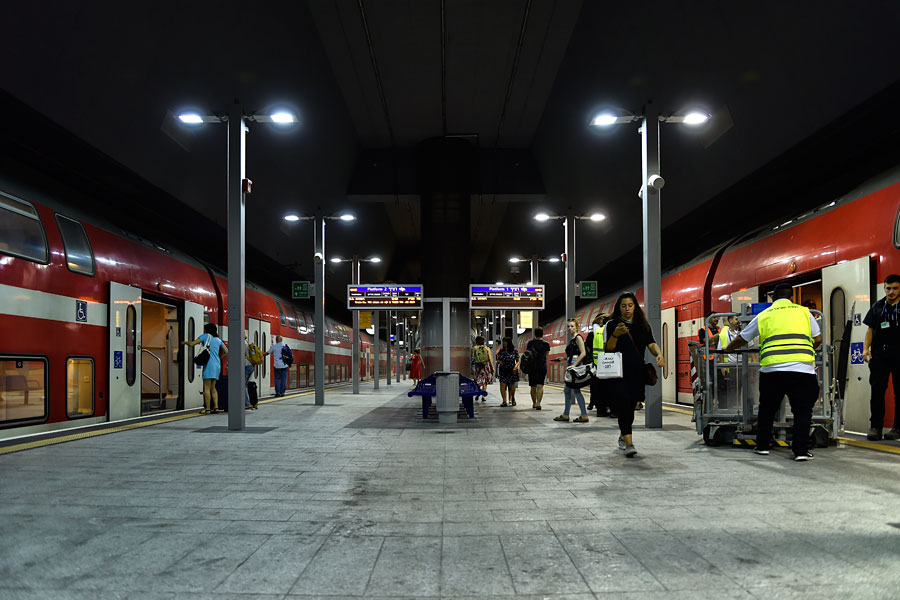 Bahnsteige im Bahnhof Jerusalem.