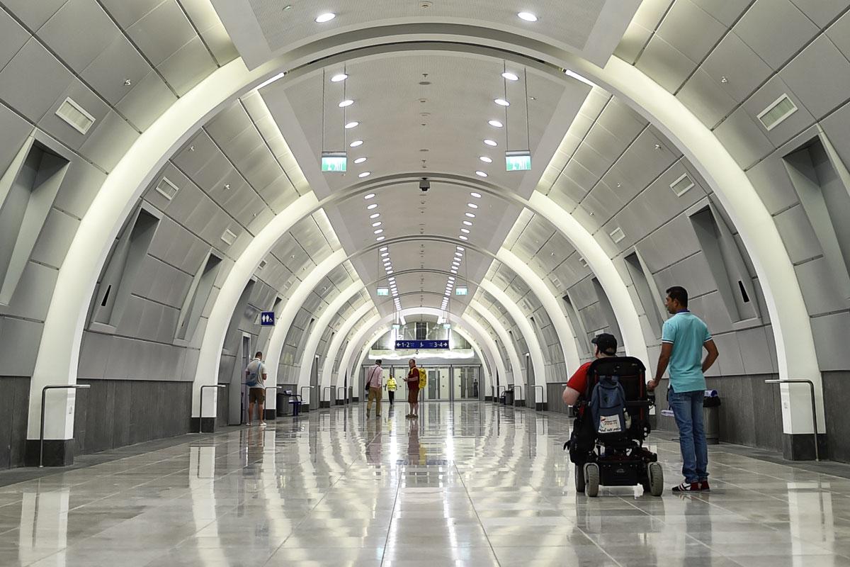 Der neue Hauptbahnhof in Jerusalem.